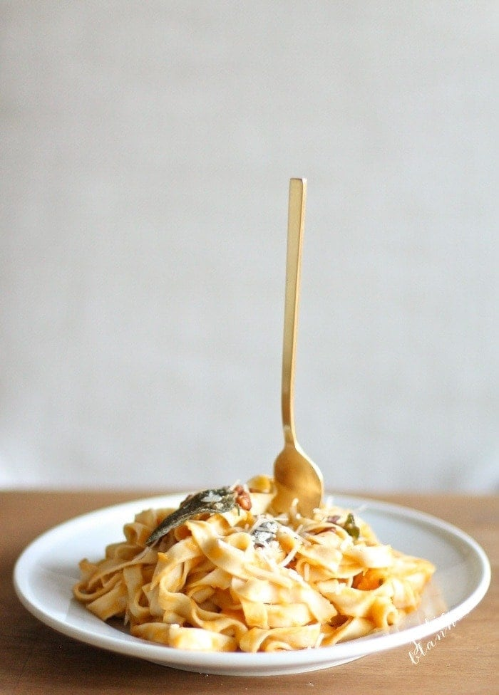 Make fall flavorful with browned butter & butternut squash pasta