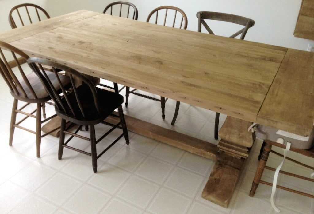 Should you purchase  build or find a harvest farm table. Restoration Hardware Table with Natural Finish and Ways to Protect It