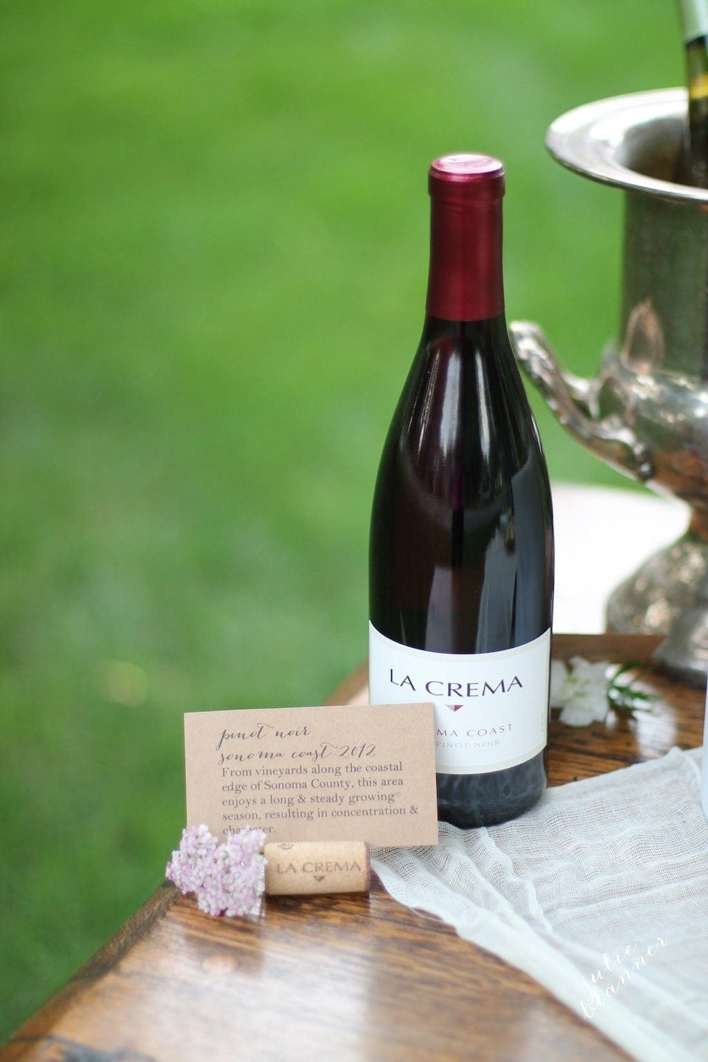 wine corks make beautiful place cards & menu notes