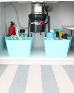 easy organization tips for that pesky under the sink space
