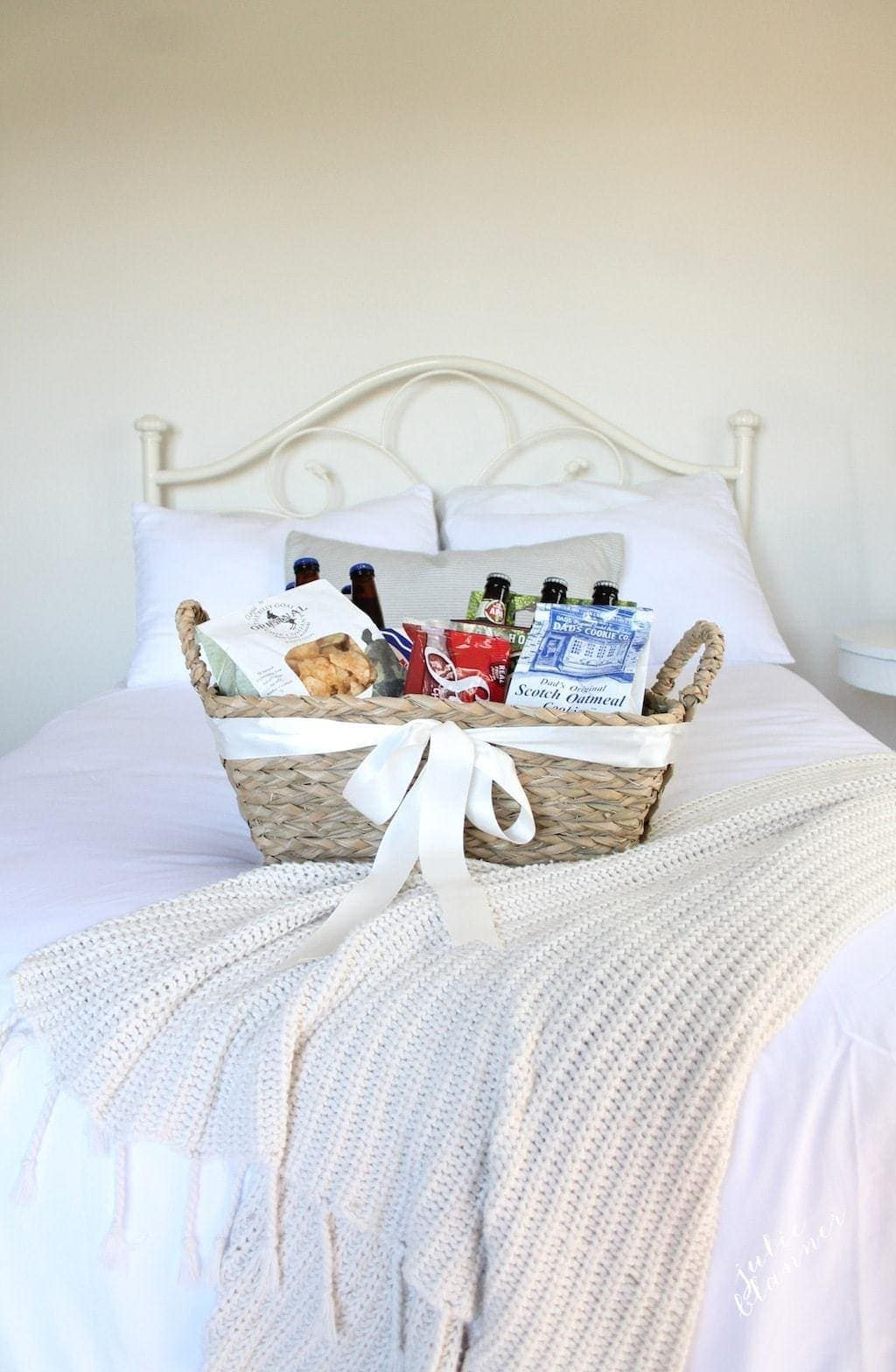 Welcome guests with a taste of your hometown in a beautiful gift basket