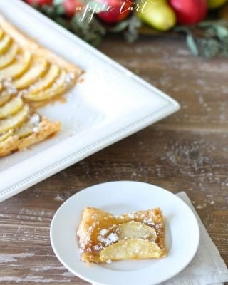 5 Minute Easy Apple Tart recipe {and only 100 calories!}
