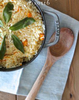 Easy & filling butternut squash risotto