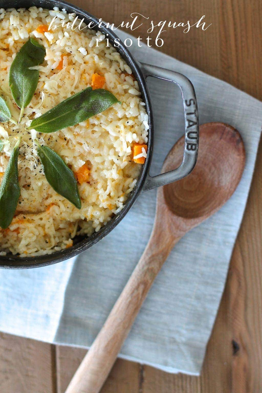 Easy & filling butternut squash risotto