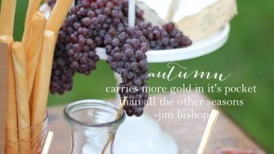 Beautiful Fall Quote via julieblanner.com