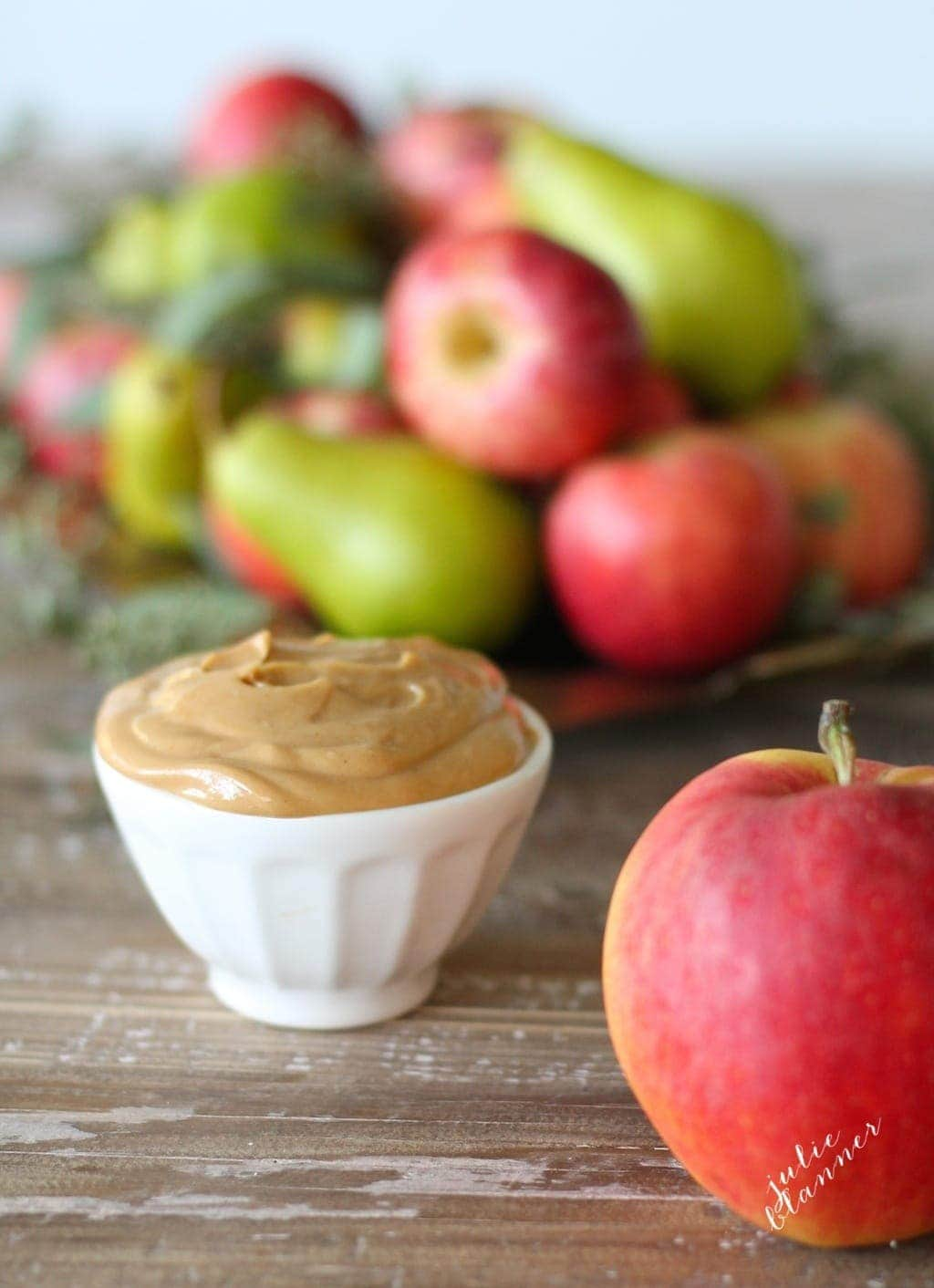 Update your fruit tray with peanut butter dip!