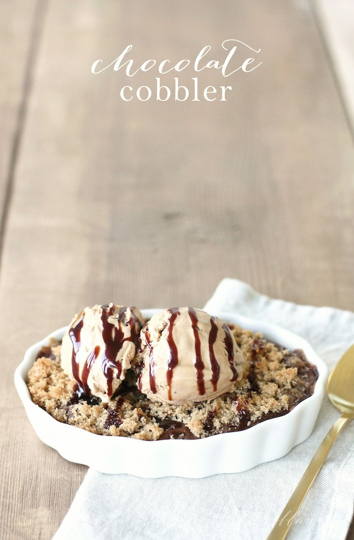 Chocolate Cobbler - an incredibly decadent & delicious dessert!