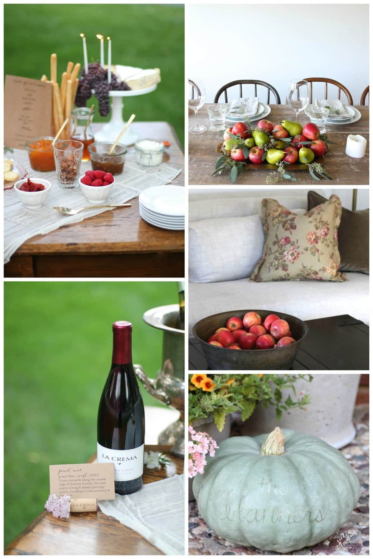 Fall entertaining & decorating ideas