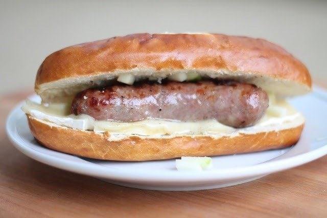 This isn't your average bratwurst! A tailgate favorite recipe!