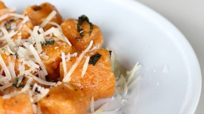 Pillows of Heaven | Easy Homemade Sweet Potato Gnocchi in a browned butter sage sauce