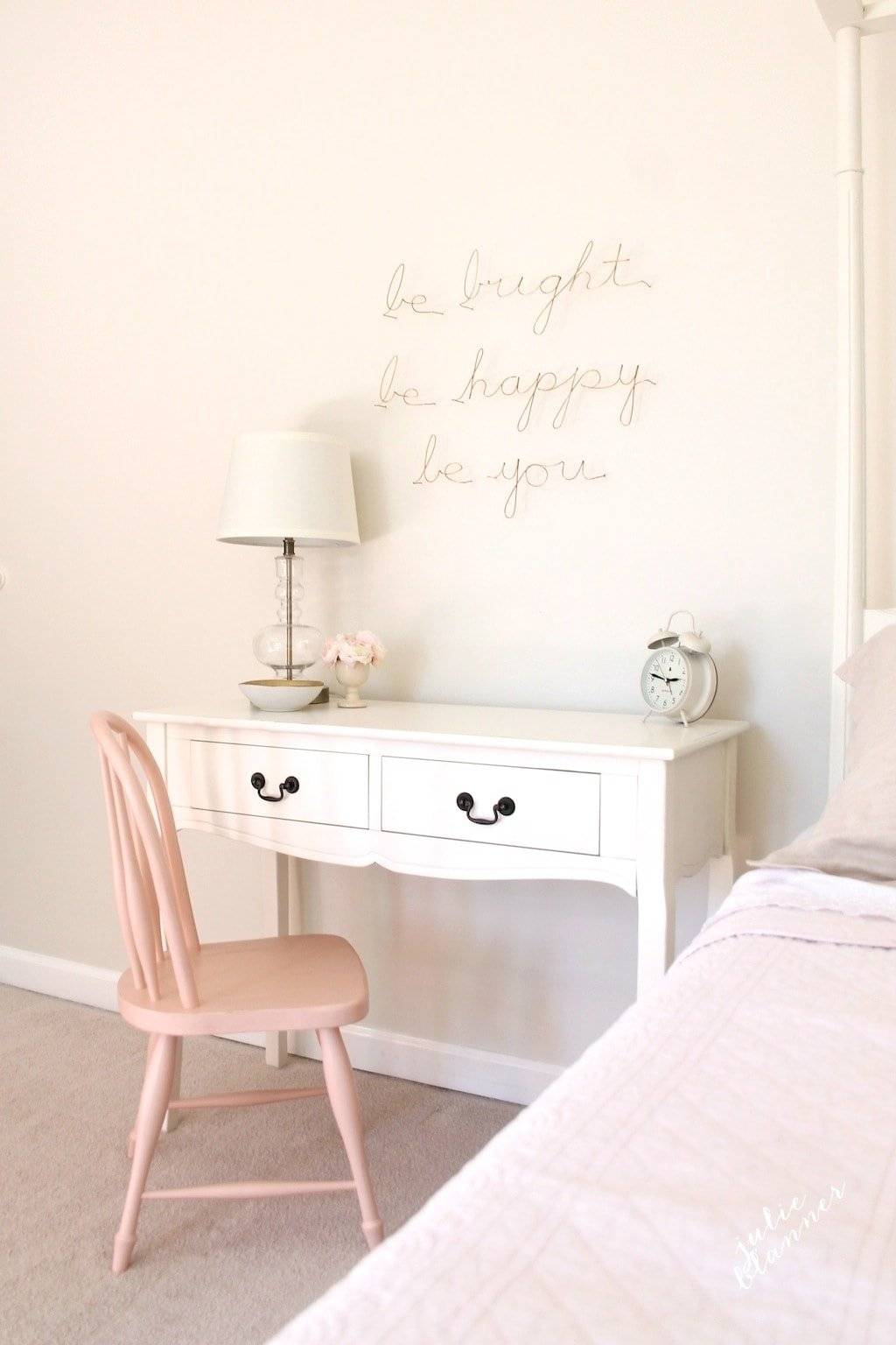 A little girl's bedroom | functional furniture & a pretty vignette