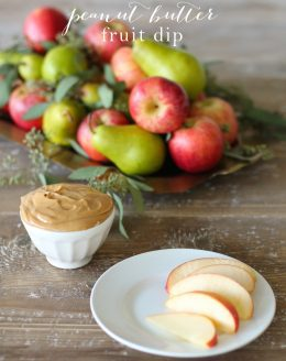 Peanut Butter Fruit Dip | a quick, easy & creamy fruit dip recipe