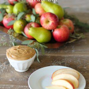 Peanut Butter Fruit Dip | a quick, easy & creamy fruit dip recipe