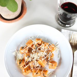 Easy Sweet Potato Gnocchi in a sage & browned butter sauce