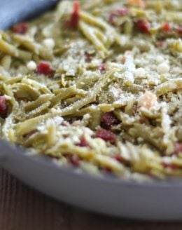 The best green beans recipe - quick, easy & full of flavor! A great side for Thanksgiving & Christmas or dinner!