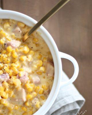 Easy, creamy, cheesy corn recipe