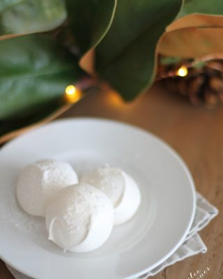 2 Ingredient Christmas Cookies made from staple ingredients! Snowballs!
