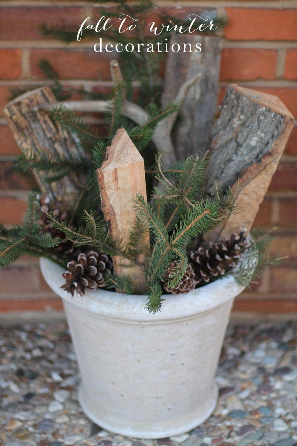 Simple Diy Outdoor Winter Arrangement Julie Blanner