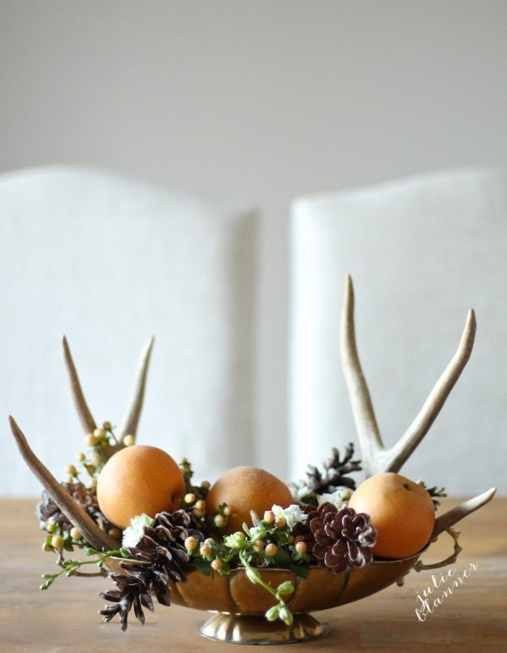 Homemade Thanksgiving Centerpiece in 5 minutes