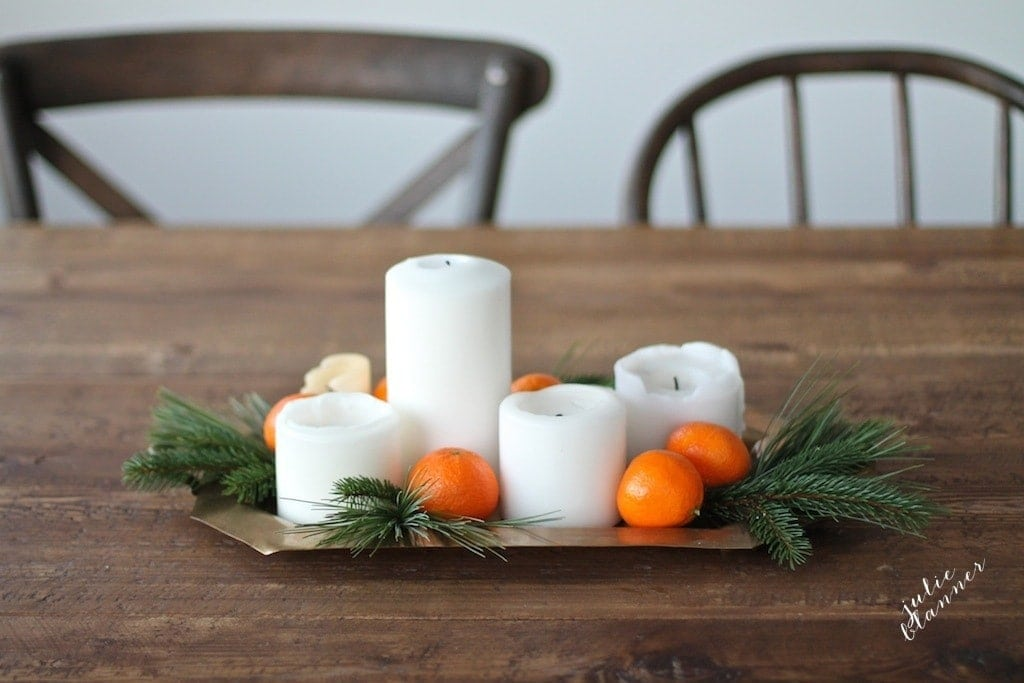 Get the recipe for this Christmas centerpiece made of forage & fruit!