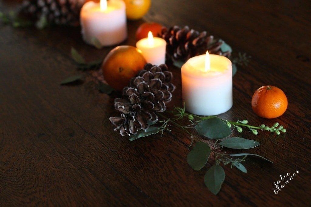 Beautiful Thanksgiving centerpiece - a 5 minute diy tutorial