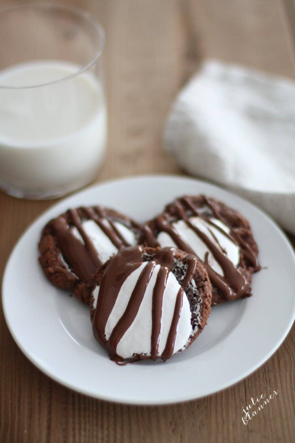 Chocolate Fluffernutter Cookies | 12 Days of Cookies