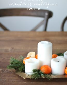 A 5 minute Christmas centerpiece recipe made with items from your home