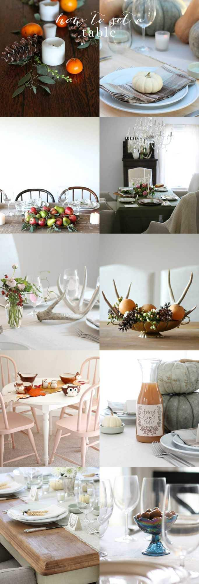 how to set a table for thanksgiving. Black Bedroom Furniture Sets. Home Design Ideas