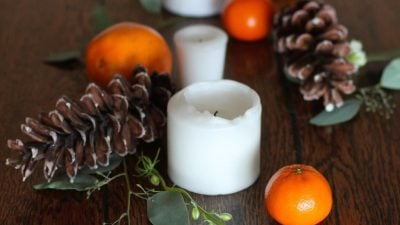 Easy, beautiful & natural Thanksgiving table setting