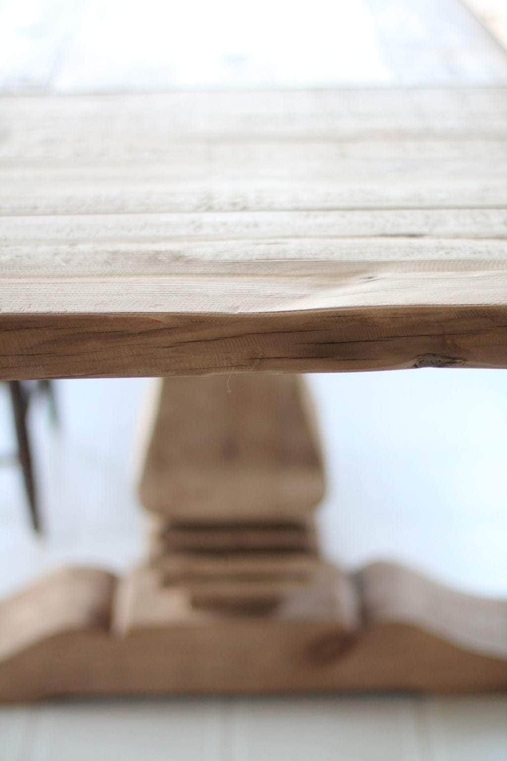 Restoration Hardware dining table farmhouse table with natural finish