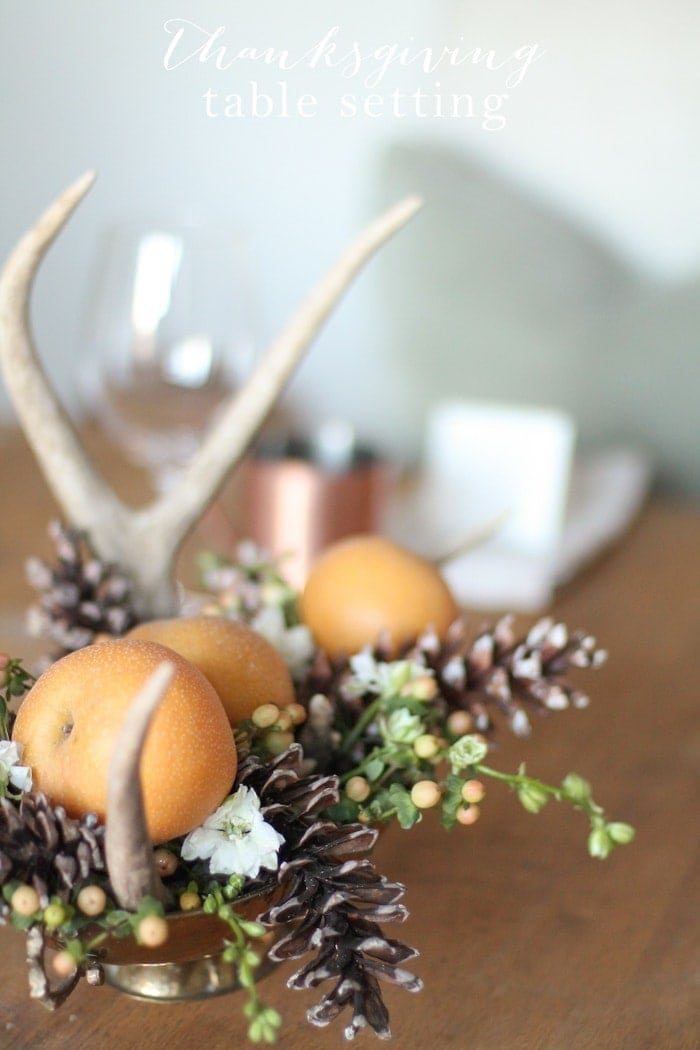Thanksgiving Table Setting & Printables