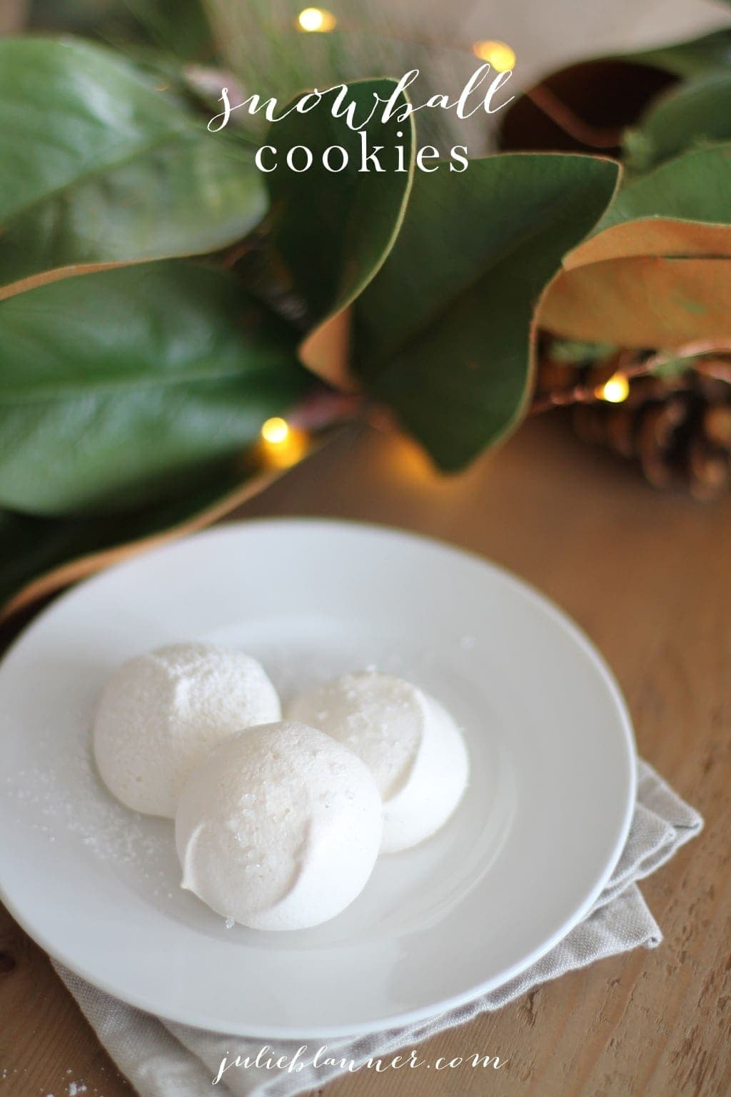 2 Ingredient Snowball Cookies