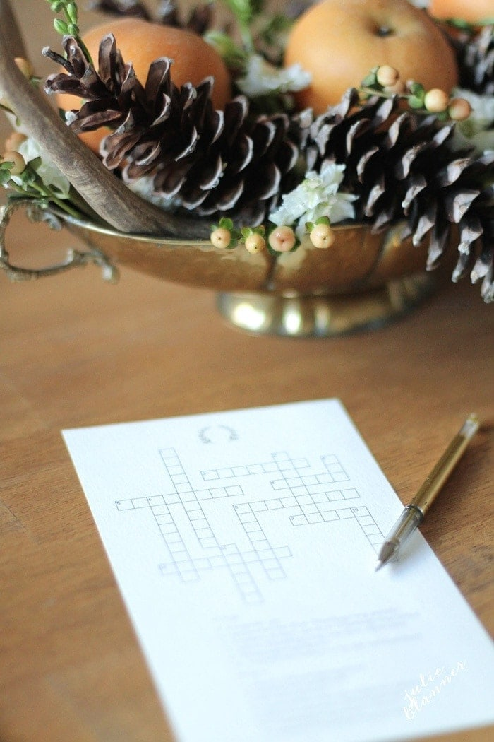 Thanksgiving activities sheets | printable crossword puzzle
