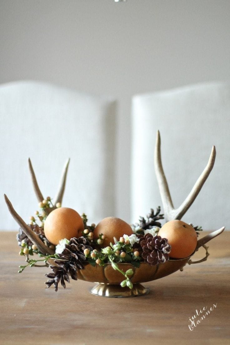 Incorporate Found Antlers and Pinecones