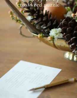 Free printable Thanksgiving crossword puzzle & other fun activities!