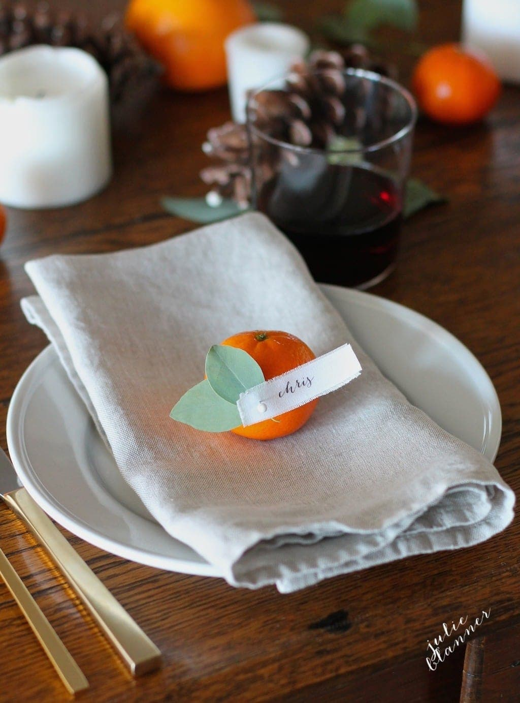 Beautiful Thanksgiving place setting in just 5 minutes!