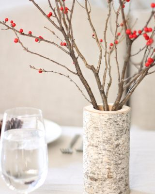 Winter perfection - berries + birch!