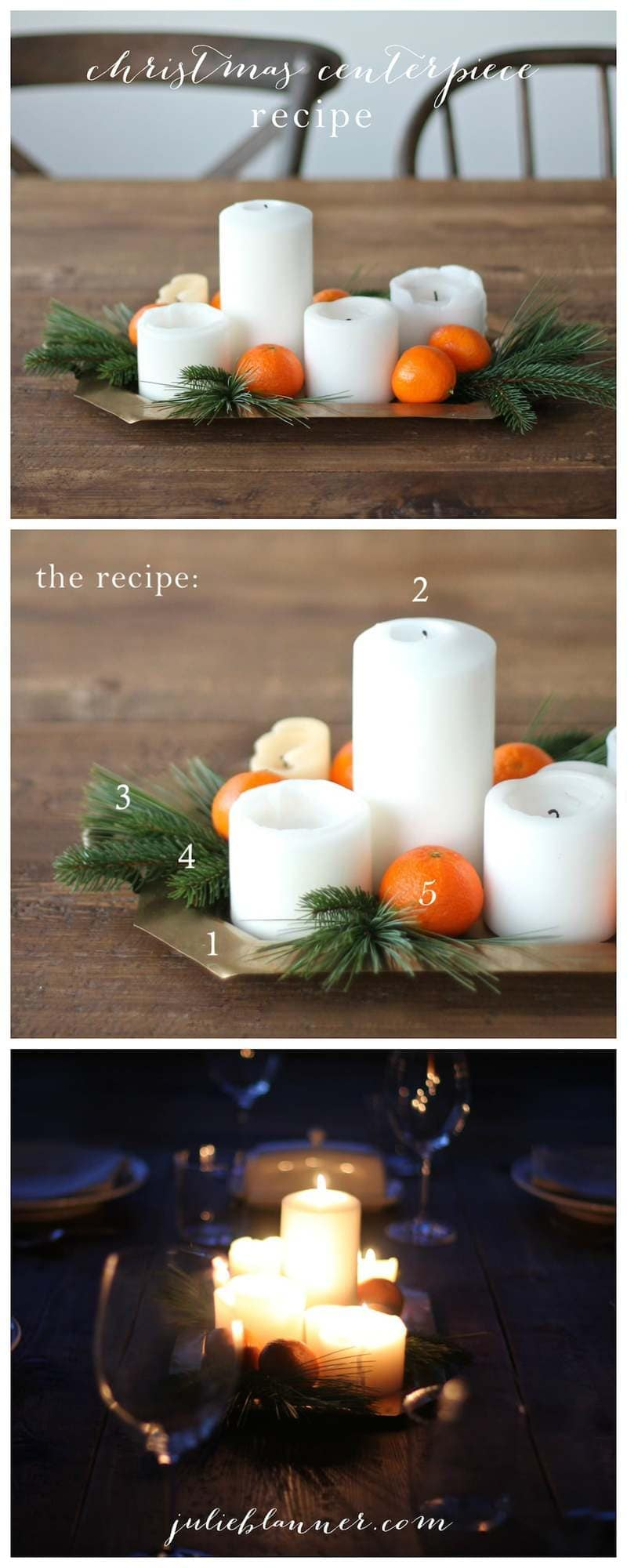 A step-by-step tutorial to create a Christmas centerpiece with things you already have!