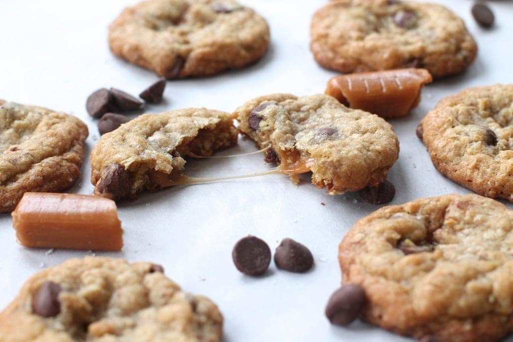 Get the buttery, oatmeal encased caramel chocolate caramelita flavor all wrapped into one little cookie!