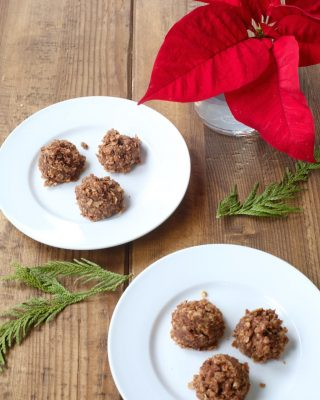 Easy Chocolate & Oatmeal no bake cookie recipe