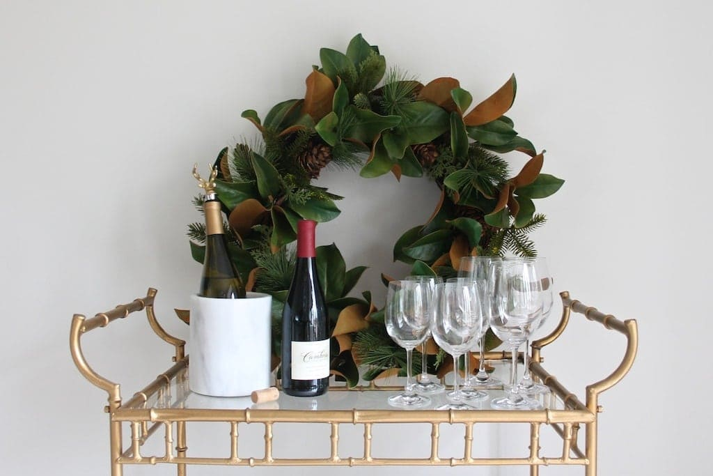 Gorgeous Christmas bar cart