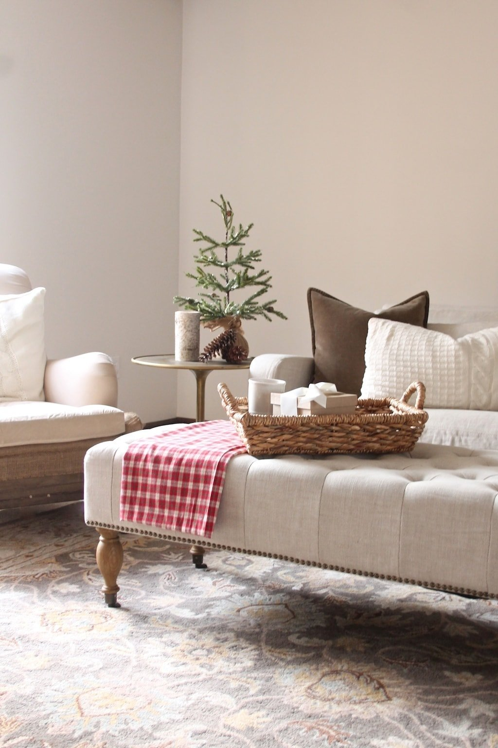 10 minute christmas decorating ideas our christmas home for Warm neutral paint colors for dining room