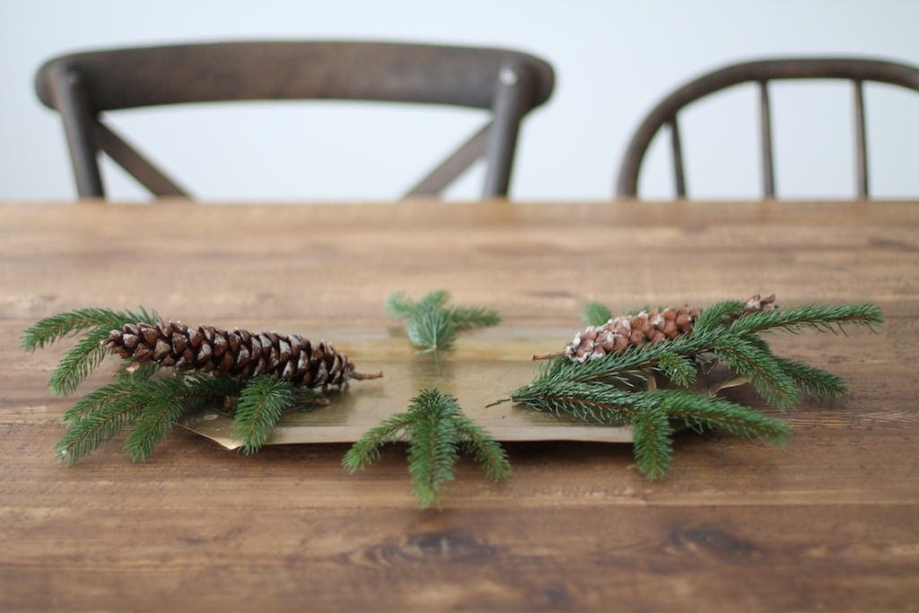 5 minute diy christmas centerpiece with pinecones berries easy diy christmas centerpiece solutioingenieria Images