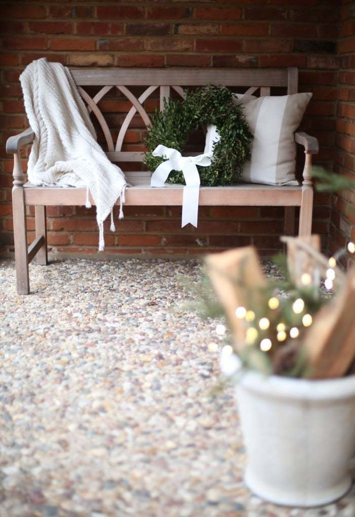 Add a Wreath to a Bench