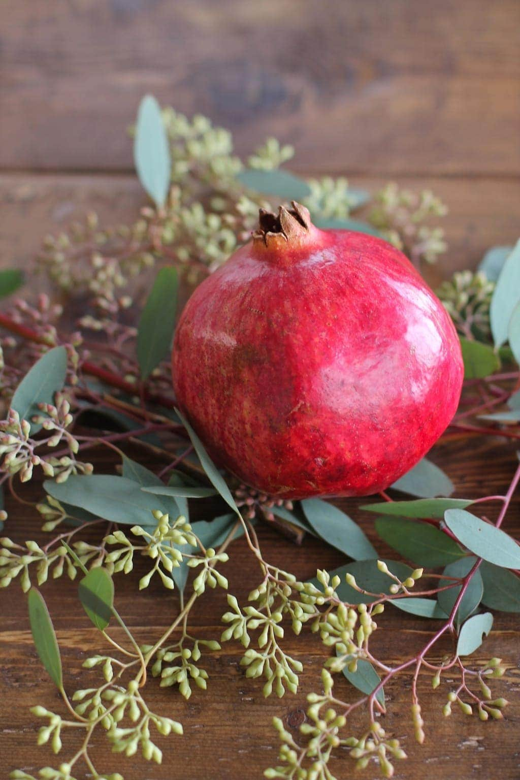 Pomegranate centerpiece for Christmas