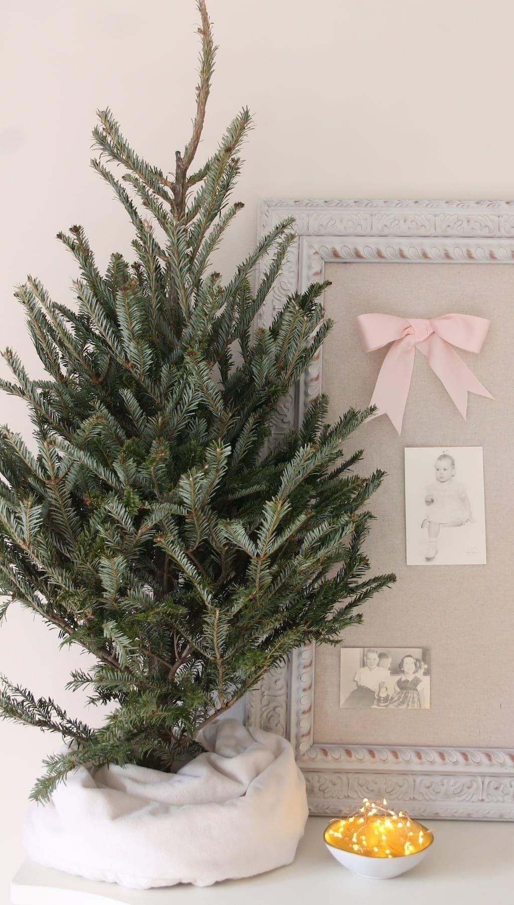 Tip: use a kids' blanket to create a small tree skirt
