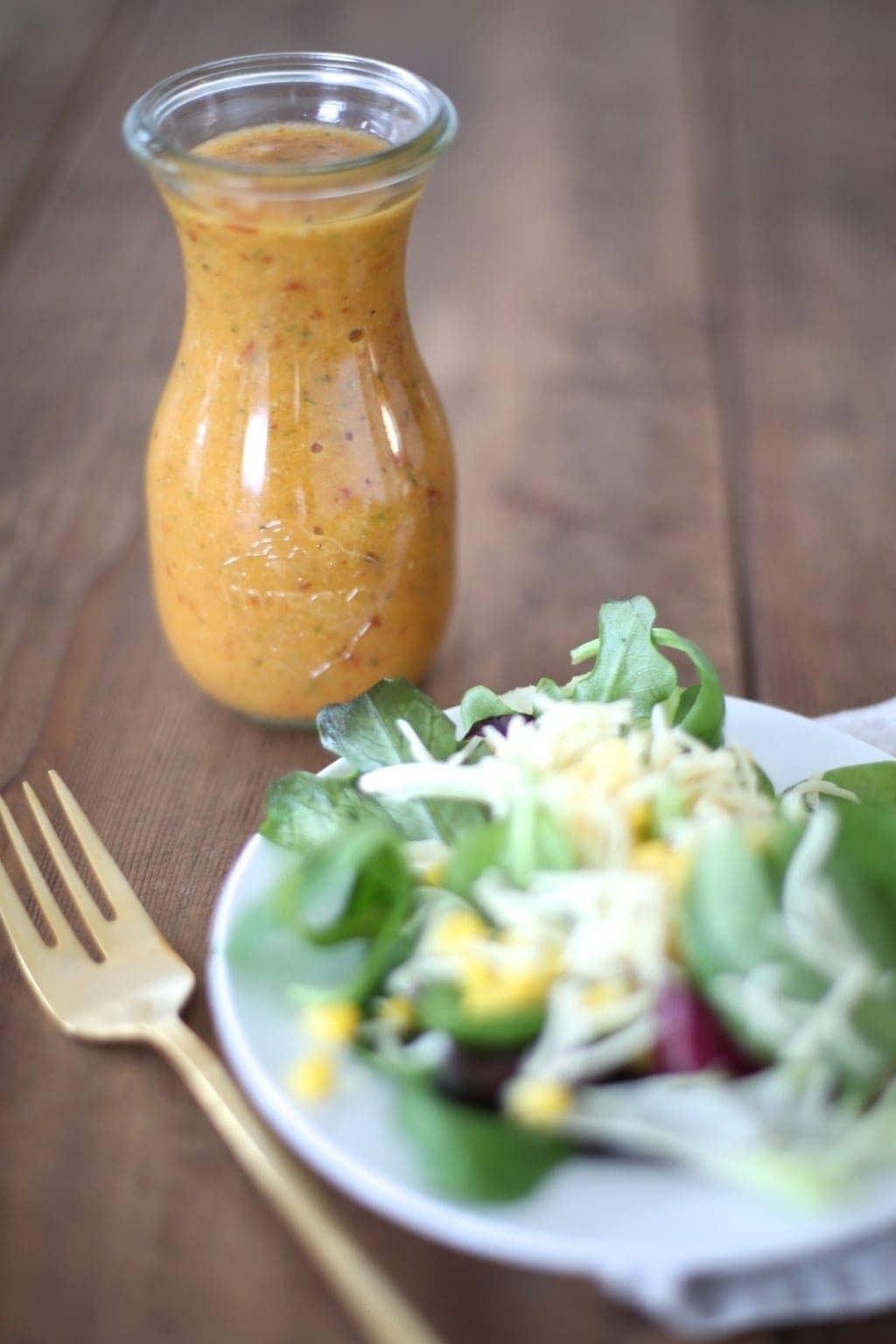 Fresh, easy & incredible Apple Chipotle Vinaigrette - a Chevy's copycat recipe
