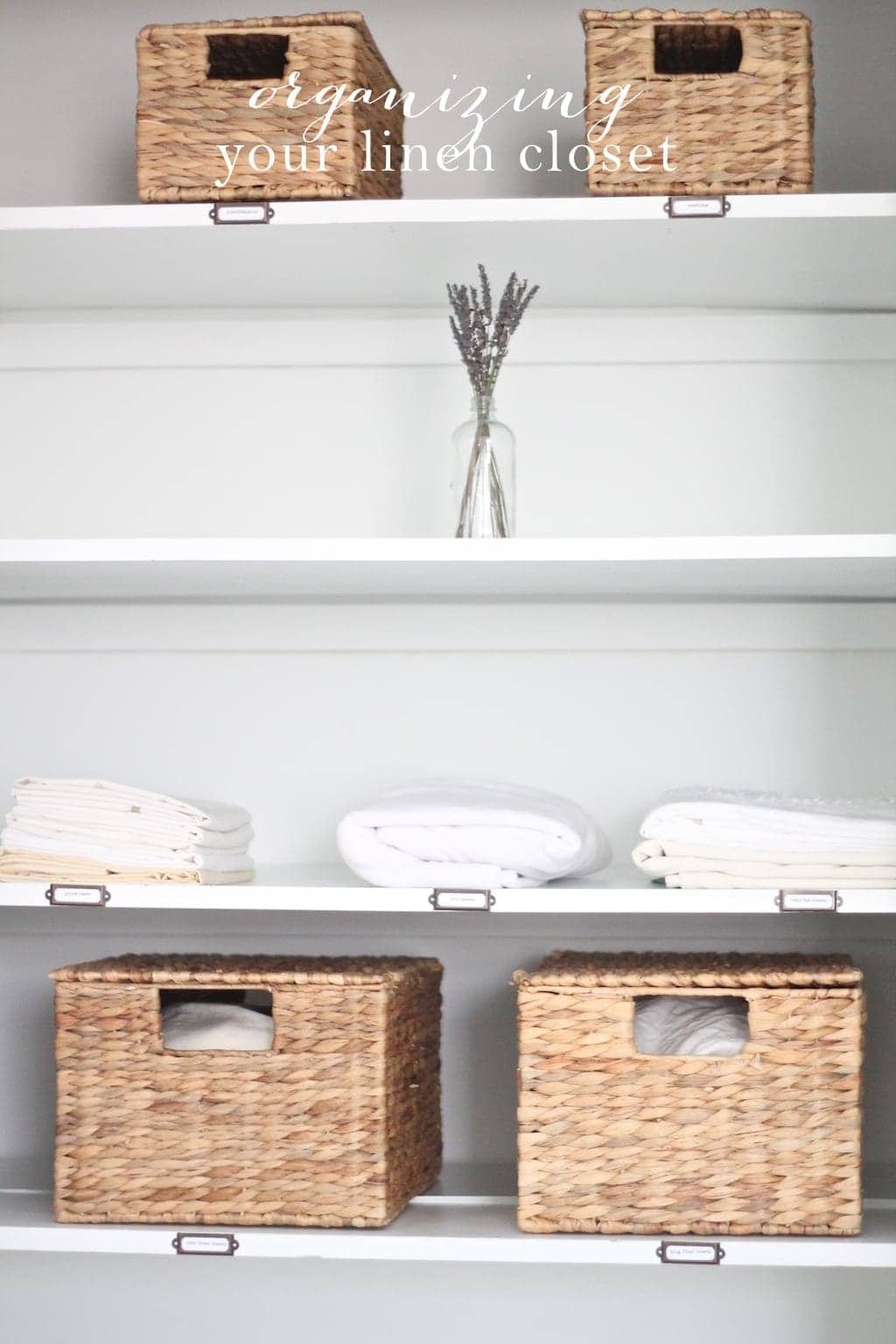 Simple tips & ideas to organize your linen closet, without the stress & mess!