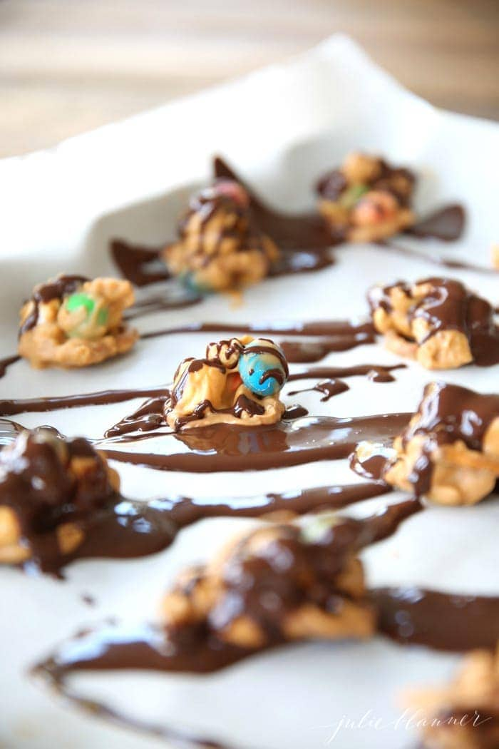 Trail Mix No Bake Cookies recipe