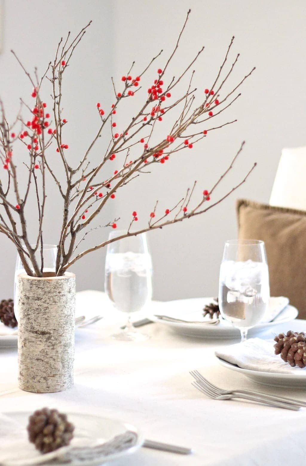 Berry & Birch Christmas Table setting